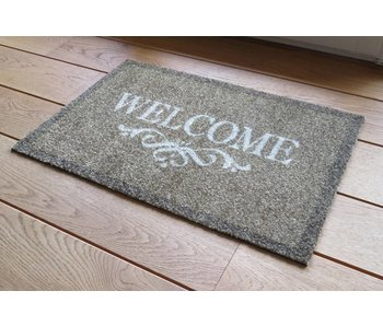 Tapijt Deco Soft 50x80 cm Welcome bruin
