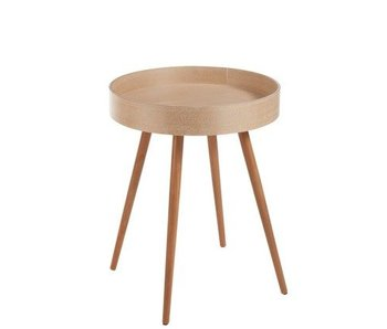 TABLE GIGOGNE ROND BOIS NATUREL 52X52X68