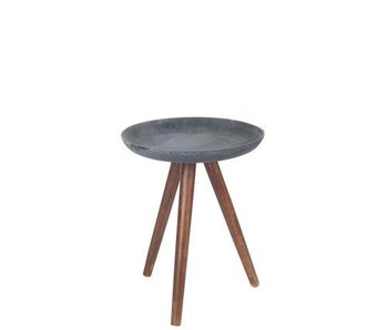 J-Line Table 3 pattes anthracite S 35x35x43