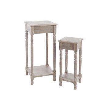 J-Line Hoge tafels naturel klein S