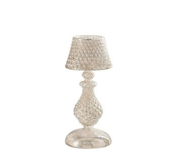 J-Line staande lamp glas 10x10x22cm