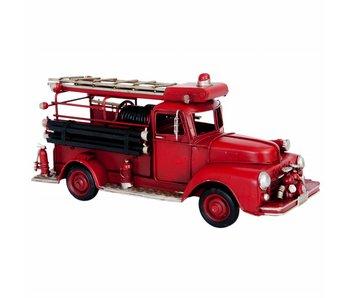 Clayre & Eef Model brandweerauto rood 31x11x14cm