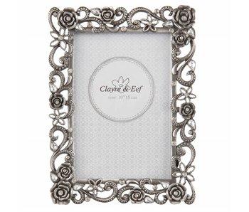 Clayre & Eef Copy of Fotolijst silver 11x7cm/3x4cm