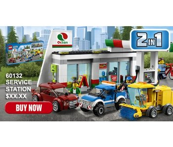 LEGO 18 LEGO 60132 BENZINESTATION