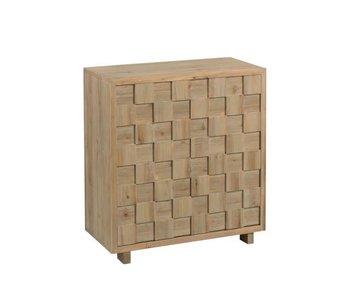 J-Line Armoire avec des carrés en bois naturel 82 x 38 x 88 cm