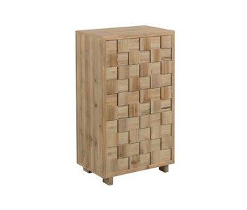 J-Line Armoire rectangulaire en bois naturel 63 x 40 x 108 cm