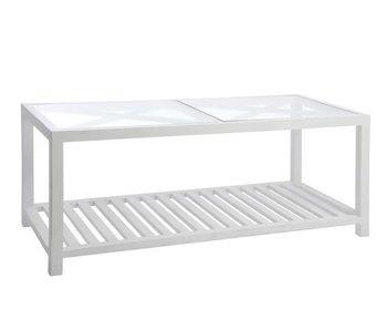 J-Line Table salon croix blanc 110 x 50 x 45 cm