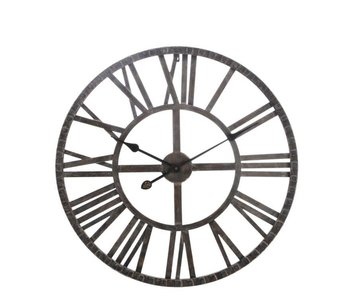 J-Line Horloge ferronnerie marron 60.2 x 60.2 x 5 cm