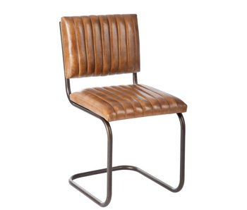 J-Line Chaise modern cuir 51 x 45 x 87 cm