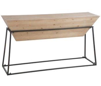 J-Line Console en bois et metal 150 x 40.5 x 83 cm