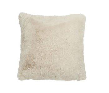 J-Line Coussin polyester gris claire 45 x 45 cm