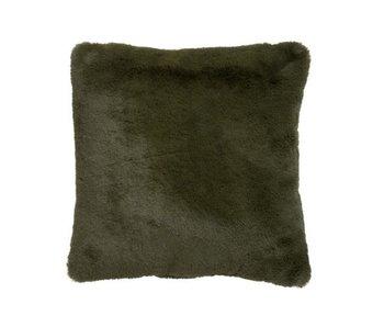 J-Line Coussin polyester vert 45 x 45 cm