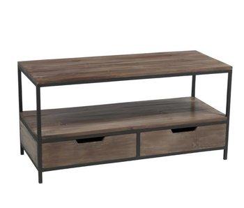 J-Line Table salon en bois L120 x L50 x H60 cm