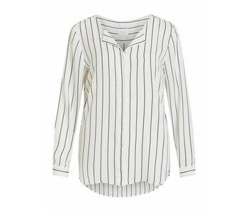 VILA Vilucy L/S shirt - white/blue - small