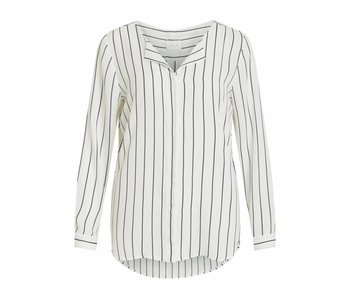 VILA Vilucy L/S shirt - white/blue - medium