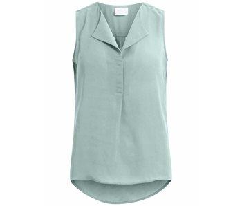 VILA Vilucy L/S shirt zonder mouw - lichtblauw - medium