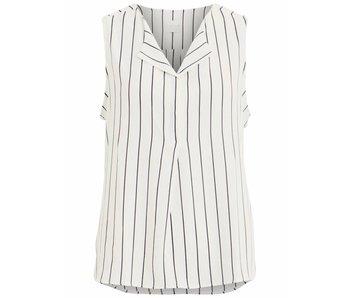 VILA Vilucy L/S shirt zonder mouw - white/blue - XS