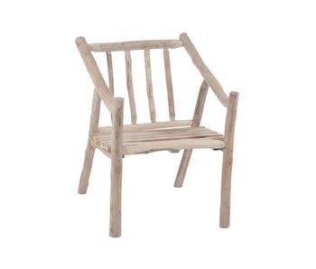 J-Line Chaise en bois 61 x 71 x 80 cm