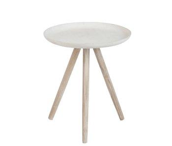 J-Line Table d'appoint en bois 45 x 45 x H50cm
