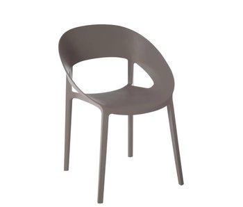 J-Line Chaise grise Lola 54.5 x 57 x 77 cm