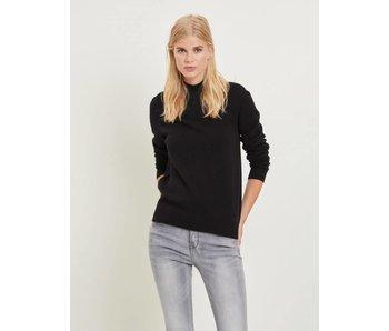 VILA Viril L/S trui met rolkraag | zwart | Extra large