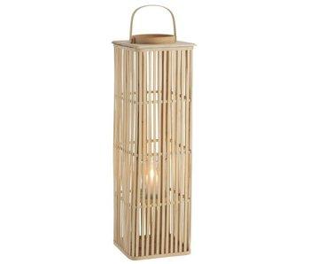 J-Line Lanterne en bamboo 18x28x90
