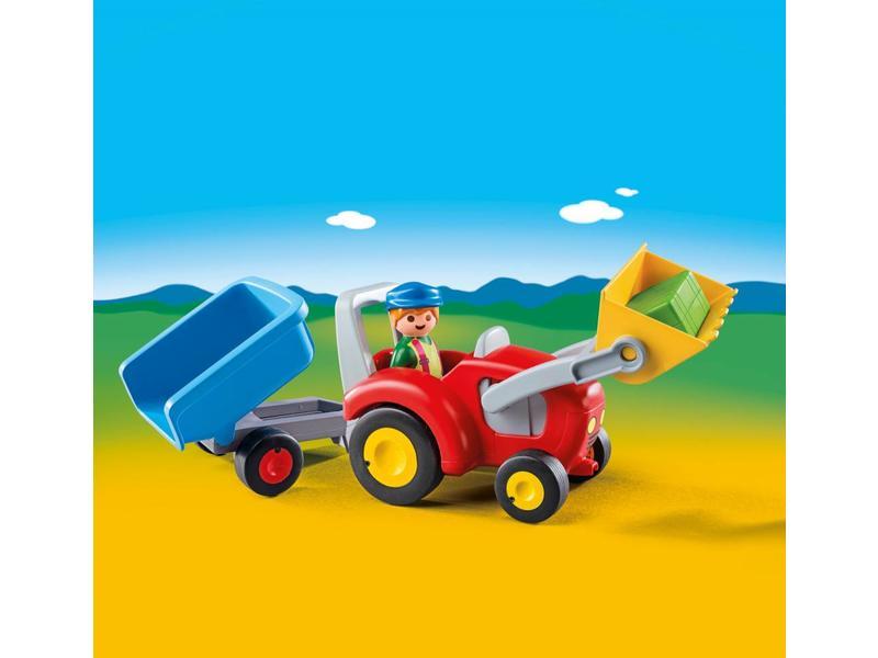 Playmobil Fermier avec tracteur et remorque 6964