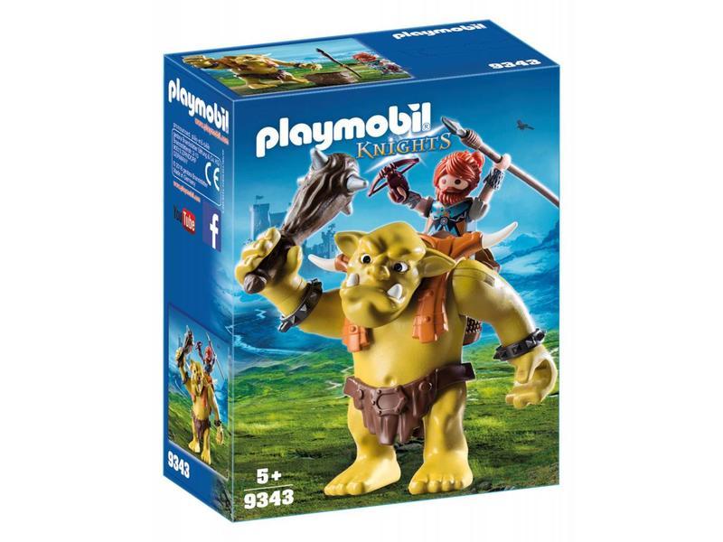 Playmobil Troll géant et nain soldate 9343