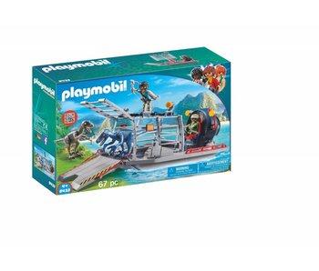 Playmobil Luchtkusssenboot met dinokooi 9433