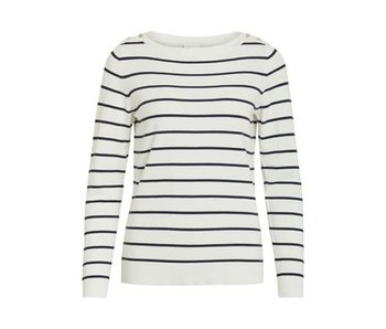 VILA Vistrike knit boatneck top - small