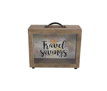 "Hamilton Living Moneybox"" Travel Savings"""