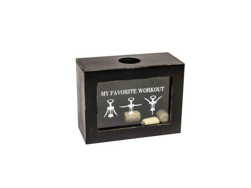 Hamilton Living Cork Box 'Favorite Workout'