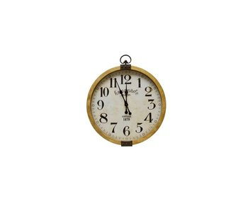 Hamilton Living Horloge Homemade M bois/métal