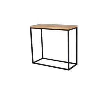 Hamilton Living Sidetable antoinette - parquetry/metal frame 80x35x74h