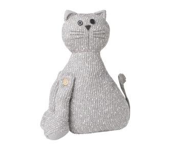 Hamilton Living Arrêt de porte chat Kiki | gris clair | 20x9x28 cm