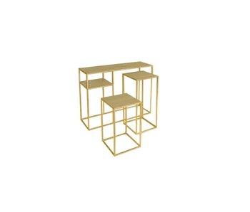 Hamilton Living Sidetable Elton- brushed gold M 29.5x30x69.5h