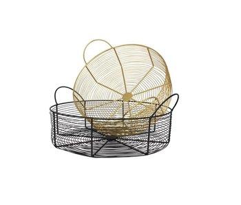 Hamilton Living Wire basket Waris - geel