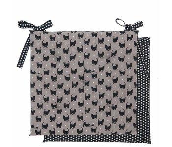 Clayre & Eef Coussin motif chats avec mousse 40x40cm