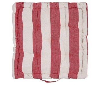 Clayre & Eef Kussen met foam gestreept 40 x 40 x 8 cm