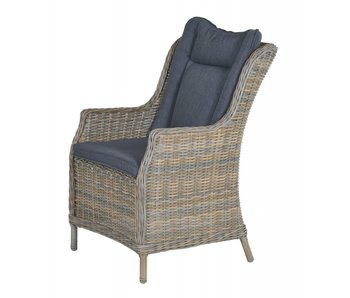 Torro-Osborne dining fauteuil hav. sand/ reflex black
