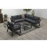 Darwin lounge set 4-dlg carbon black/ reflex black