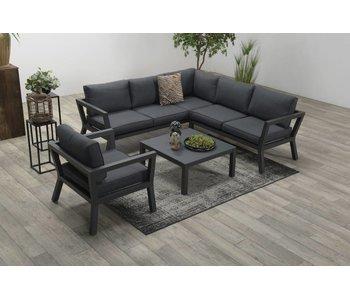 Darwin lounge set 4 pièces noir carbone / reflex noir