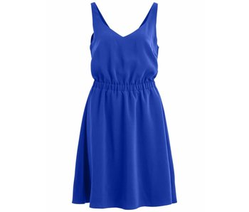 VILA Vilaia S/L V-neck dress - blue - 36