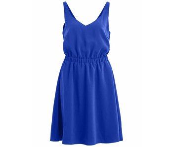 VILA Vilaia S/L V-neck dress - blue - 38