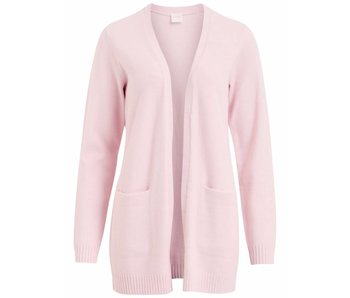 VILA Viril L/S open knit cardigan - lila - medium