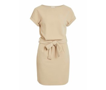 VILA Vimaeva S/S dress - camel - small