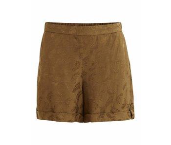 VILA Vibaliva shorts met print   dark olive   40