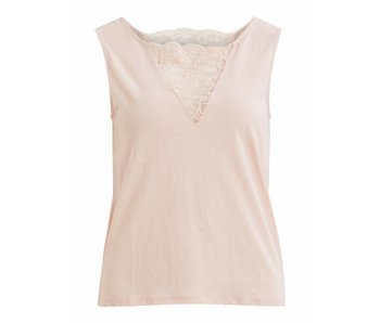 VILA Vilanna V-neck top - rose - medium