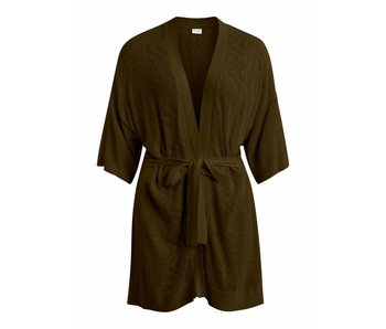 VILA Vilesly knit detail cardigan - olive - small