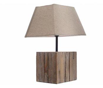 tafellamp vurenhout blok 27x20x37 naturel
